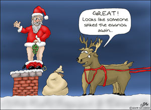 Funny-Christmas-Cartoons-Spiked-the-Eggnog