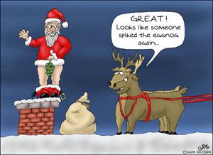 Funny-Christmas-Cartoons-Spiked-the-Eggnog