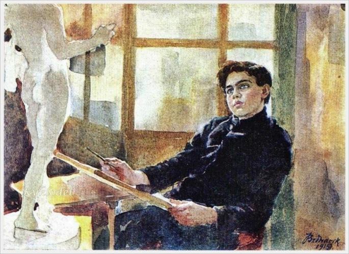 Ignat Bednarik  (Romanian, 1882-1963)  «The_little_artist