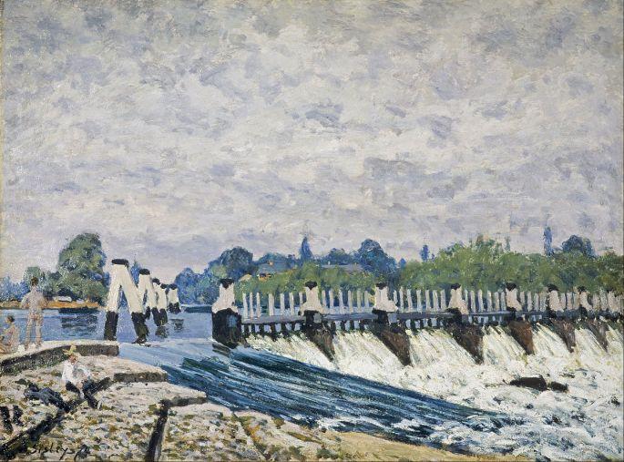Alfred_Sisley_-_Molesey_Weir,_Hampton_Court_-_Google_Art_Project