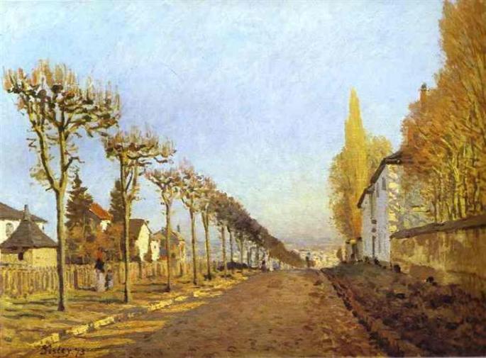 Chemin de la Machine Louveciennes Alfred Sisley
